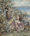 Edward Atkinson Hornel - Amidst the spring blossom.jpg