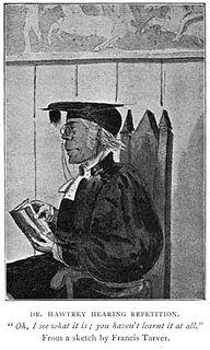 Edward Craven Hawtrey Head MAster of Eton College