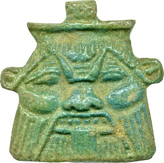 Bes - Mask depicting Bes, Egyptian faience, early 4th–1st century BC (Walters Art Museum, Baltimore)
