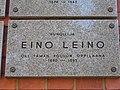 Eino Leino oli taman koulun oppilaana... laatta kuvattu v.2018.jpg
