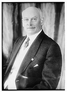 Elbert Henry Gary American lawyer, county judge and corporate officer