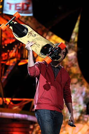 Electric skateboard - Image: Electric skateboard at TED