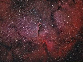 Elephant's Trunk nebula - Elephant Trunk Nebula captured in Hydrogen Alpha and in Oxygen