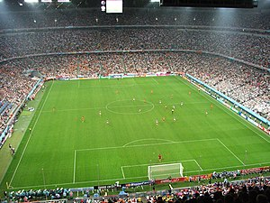 Serbia and Montenegro national football team - Serbia and Montenegro and the Ivory Coast playing in the Allianz Arena at the 2006 World Cup