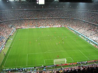 Serbia national football team - Serbia and Montenegro and Cote d'Ivoire playing in the Allianz Arena at the 2006 FIFA World Cup
