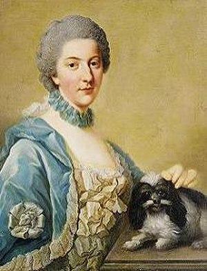 Elisabeth Christine of Brunswick-Wolfenbüttel, Crown Princess of Prussia - Portrait by Johann Georg Ziesenis, 1765.