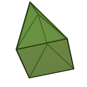 Elongated triangular pyramid - Image: Elongated triangular pyramid