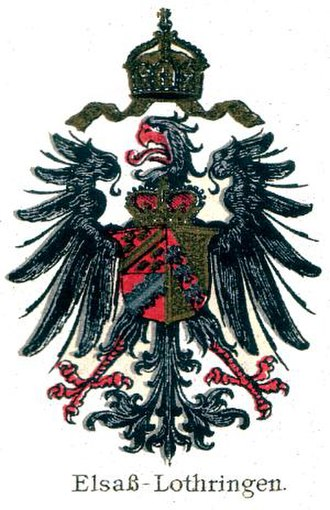 Elsässisches Fahnenlied - Coat of arms used when part of the German Empire
