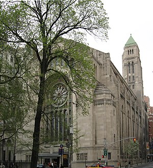 Congregation Emanu-El of New York - Temple Emanu-El on 5th Avenue in New York's Upper East Side
