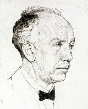 Die Frau ohne Schatten - Strauss in 1917, portrait by Emil Orlík