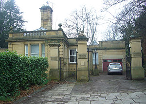 Endcliffe Hall - The lodge and gate piers.