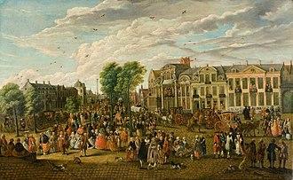 Ghent - De Kouter in Ghent in 1763 by Engelbert van Siclers
