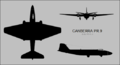 English Electric Canberra PR.9 three-view silhouette.png