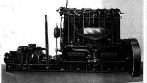 Enterprise Engine - Profile view of Enterprise Engine. 1918