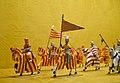 Entrada de Jaume I a València segons els frescos d'Alcanyís, museu dels soldadets de plom l'Iber.JPG