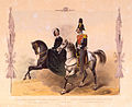 Equestrian portrait of Michael Pavlovich of Russia with wife by Schmidt.jpg