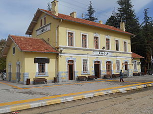 Ereğli railway station - Ereğli station building.