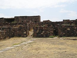 The remains of the Erebuni Fortress, which was built by king Argišti in 782 BC.
