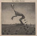 Erich Schilling – Der Russische Osterhase (The Russian Easter Bunny, skeleton hare, war field, bombs) 1917 Satirical cartoon No known copyright (low-res).jpg