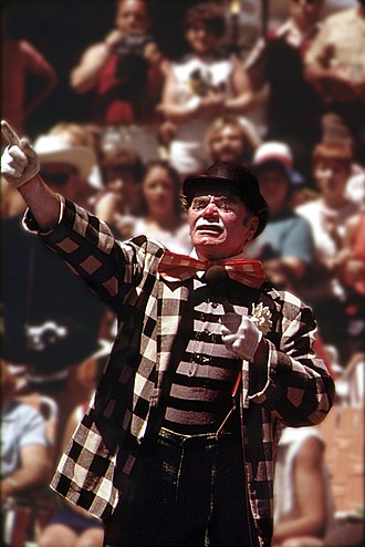 "Ernest Borgnine - Borgnine as ""Grand Clown"" in June 1973"