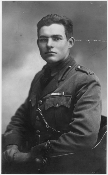 Ernest Hemingway Portrait 1918 - NARA - 192668