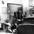 Ernest Hemingway with Count Titi Kechler, Villa Aprile, Cortina, Italy, winter 1948-1949.jpg