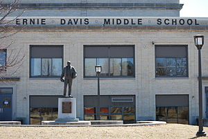 Ernie Davis - Statue at Ernie Davis Middle School (now at Ernie Davis Academy), Elmira, NY