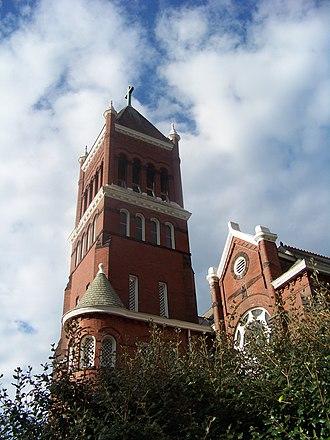 Erste Deutsche Evangelische Kirche - Image: Erste Deutsche Evangelische Kirche tower