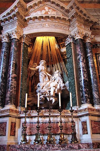Ecstasy (philosophy) - Ecstasy of Saint Teresa, 1652, by Gianlorenzo Bernini