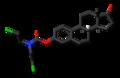 Estromustine molecule skeletal.png