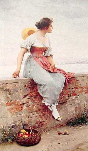 Thought - A Pensive Moment (1904), by Eugene de Blaas
