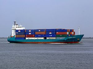 Europe Orion IMO 9143415 approaching Port of Rotterdam 18-May-2007.jpg