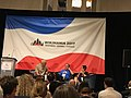 Evan Prodromou, Jimmy Wales and Gabriella Coleman Wikimania 2017.jpg