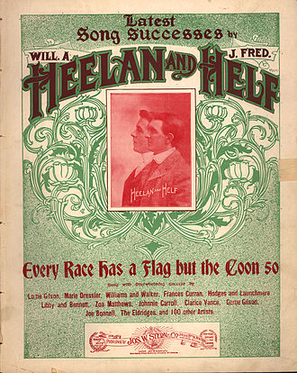 "Pan-African flag - Sheet Music for ""Every Race Has a Flag but the Coon"""
