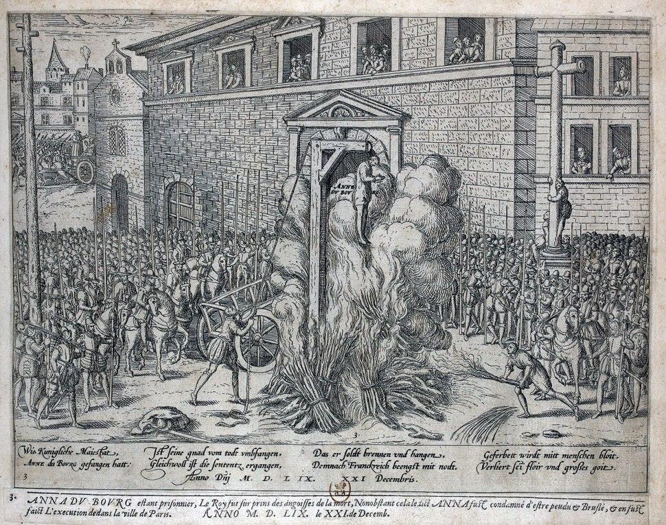 Exécution d'Anne du Bourg