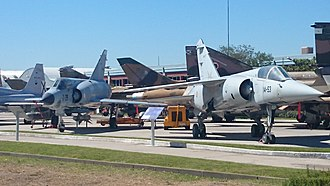 Museo del Aire (Madrid) - Ex Spanish Airforce Mirage F-1 and Mirage III
