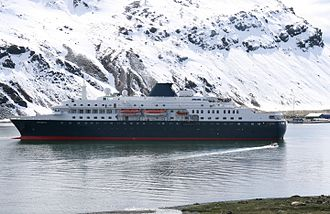 Swan Hellenic - Swan Hellenic ship Minerva (then Explorer II) at anchor at Grytviken, South Georgia in November 2007.