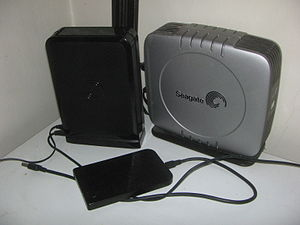 English: 3 external hard drives: 2011 3.0 TB 3...