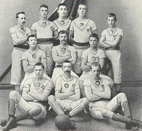 Players of the 1896 Örgryte IS Swedish Championship winning team