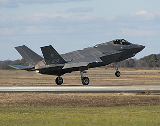 Italian nuclear weapons program - Image: F 35A Lightning II completes first trans Atlantic Ocean crossing (15 of 16)