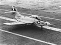 F9F-8 of VA-146 on USS Hornet (CVA-12) 1957.jpg