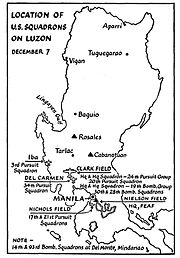 FEAF Philippines Map - 7 December 1941
