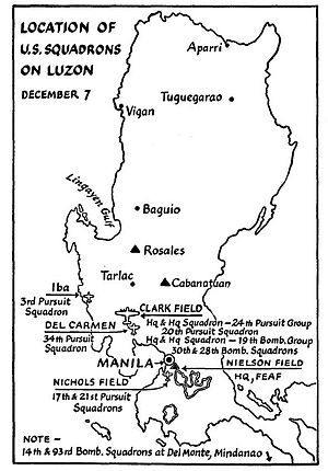 Fifth Air Force - Far East Air Force deployment, 7 December 1941