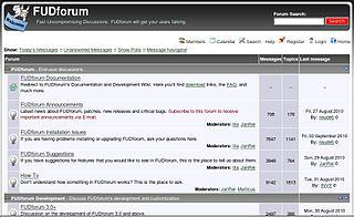 FUDforum Free Internet forum software