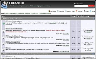 Internet forum - FUDforum, another Internet forum software package.