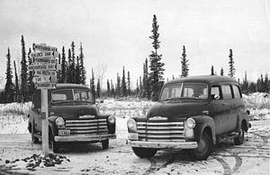 United States Fish and Wildlife Service - USFWS patrol vehicles, Alaska 1950