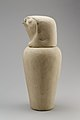 Falcon-headed stopper (Qebehsenuef) from a canopic jar MET 28.3.116a b EGDP019909.jpg