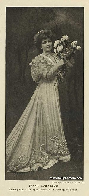 Fannie Ward - Ward's picture in Burr McIntosh Monthly, July 1907 issue.