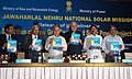 Farooq Abdullah and the Union Power Minister, Shri Sushil Kumar Shinde jointly released the Guidelines for Selection of New Grid Connected Solar Power Projects, in New Delhi on July 25, 2010.jpg