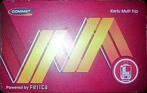 "FeliCa - FeliCa embedded ""Multi-Trip Card"" in use on KRL Jabodetabek in Indonesia"